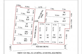 Bán nhà 3 tầng ô tô đỗ cửa thôn Vân Tra, sau trường tiểu học An Đồng, An Dương