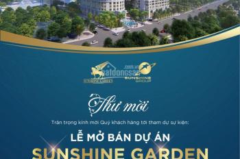 Đăng ký tham dự mở bán lớn dự án Sunshine Garden với quà tặng 1 lượng vàng trị giá 35tr VNĐ