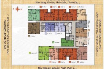 Bán căn hộ 2PN Ascent Plaza hướng Nam view sông + Lanmark 81, chênh lệch chỉ 130 tr, LH 0938919719