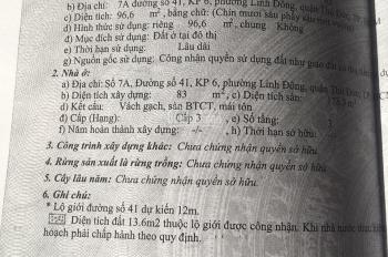 Cho thuê nhà 2 lầu đường 41 Linh Đông, cách Phạm Văn Đồng 30m, Văn Minh, Lịch Sự
