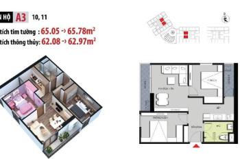 Cần bán gấp căn hộ 2 phòng ngủ diện tích 63m2 tại chung cư Hateco Apllo xuân phương