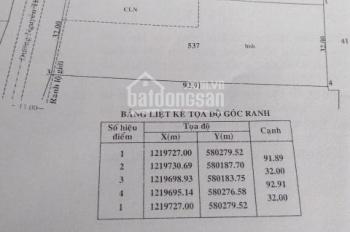 Bán đất mặt tiền đường Nguyễn Thị Rành xã Nhuận Đức huyện Củ Chi.DT:32x90m=3000m2