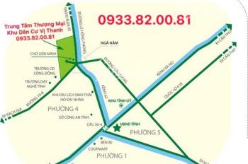 Dự án THÀNH PHỐ VỊ THANH - 5TR/M2 , chính thức mở bán , ưu tiên vàng cho khách hàng cọc đầu tiên