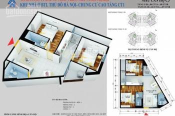 Bán chung cư CT1 Yên Nghĩa Quận Hà Đông, giá từ 12.5 tr/m2 nhận nhà tháng 11