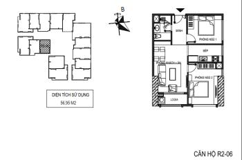 Căn hộ Sunshine Riverside nhận nhà ở luôn 57m2, 2PN, Full nội thất cao cấp. Giá 2.1tỷ Lh 0936061516