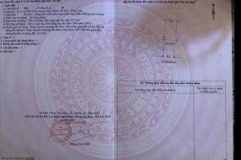 Bán đất chính chủ thuộc ấp 3, phường Hắc Dịch, Thị xã Phú Mỹ
