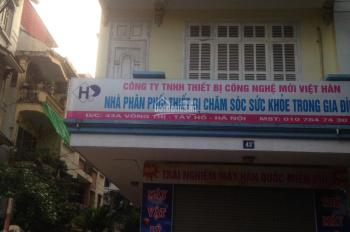 Cho thuê nhà làm văn phòng tầng 1 và 2 tại phố Võng Thị, Lạc Long Quân, quận Tây Hồ