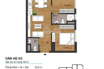 Chính chủ bán căn hộ chung cư CT36 Định Công căn góc 03 diện tích 60m giá 1ty550