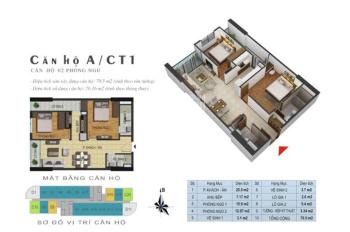Chính chủ cần bán căn hộ 885 Tam Trinh, T1612 - CT1, DT: 76m2, giá: 1 tỷ 450. LH: 0981997618