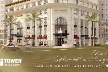 Cơ hội vàng sở hữu căn hộ chung cư cao cấp HDI Tower - 55 Lê Đại Hành. LH: 0979458628