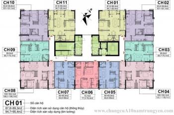 Bán lỗ 300tr CC A10 Nam Trung Yên, 1604: 100,9m2 & 1505: 60,9m2, giá 29tr/m2. LH 0971.085.383