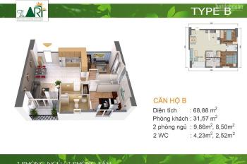 Bán gấp trong tuần căn hộ cao cấp Chung cư Gia Hòa Quận 9 DT 68m2/2 phòng ngủ Giá 2.2 tỷ