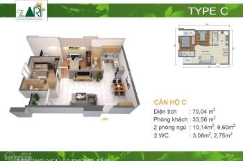 Tôi cần bán gấp căn hộ The Art, Gia Hòa, Quận 9, DT 70m2, 2 phòng ngủ, giá 2.2 tỷ, LH 0909113585