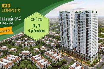 Bán gấp căn hộ 2 phòng ngủ: CT1 - 1207, ban công ĐN, hỗ trợ vay 70%. LH: 0973881567