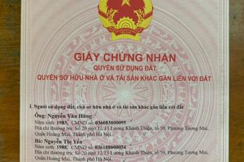 Chính chủ cần bán mảnh đất Hoàng Văn Thụ - Hoàng Mai- Hà Nội, Diện Tích 78m2 ,Mặt Tiền 7,8m
