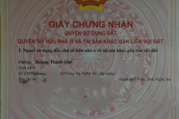 Bán đất thổ cư gần đường V.I.Lê Nin, TP Vinh. LH: 0707056592