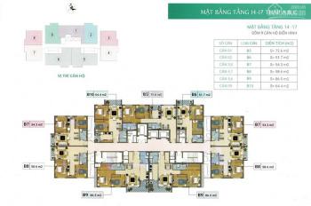 Bán chung cư Xuân Phương Residence, căn 1203, dt 81.8m2, giá 19tr/m2. Lh chủ nhà 0904999135