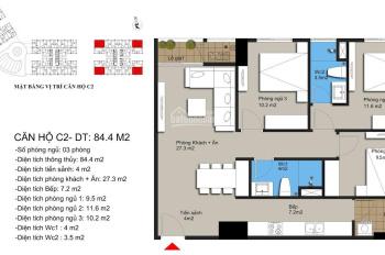 Bán căn góc 85m2 hướng Nam, dự án Hateco Xuân Phương. Giá 2.1 tỷ full nội thất nhận nhà tháng 8