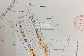 Bán đất đấu giá phường Trung Sơn trầm đối diện học viện Biên Phòng thị xã Sơn Tây. Giá 9tr/m2