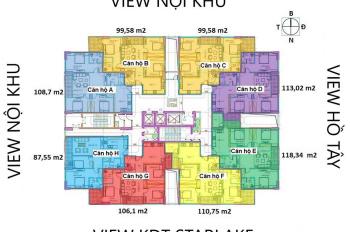 Bán căn hộ khu Ngoại Giao Đoàn, DT 112m2 giá chỉ 27.5 tr/m2