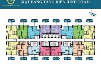 Bán gấp căn hộ B1711 Intracom Riverside-Nhật Tân, 50m2, giá 1.15 tỷ rẻ nhất thị trường: 0906995889