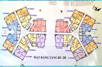 Chính chủ CC CT1 Yên Nghĩa cần bán gấp, căn 1608, DT 55m2, BC ĐN, giá net 12tr/m2, LH 0985284866