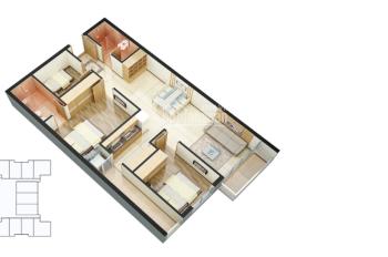 Không có nhu cầu sử dụng, bán căn hộ 3 phòng ngủ 93.7m2 cực rẻ chỉ 2.6 tỷ Golden West Lê Văn Thiêm