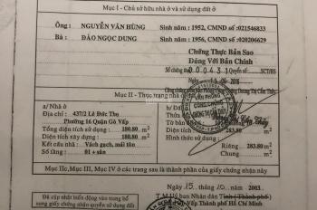 Bán khách sạn Lê Đức Thọ P16, Gò Vấp. DT 290m2, 73P, giá 40 tỷ TL