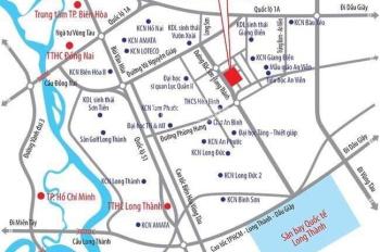 Đất vàng ngay KCN Giang Điền, mặt tiền 60m Bắc Sơn - Long Thành, chỉ 740tr/nền, LH: 0828153016