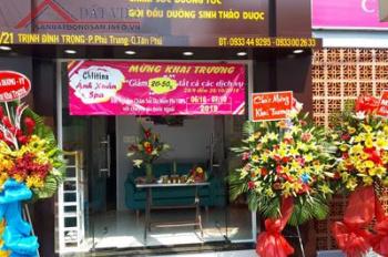Sang gấp tiệm spa MT Trịnh Đình Trọng, Phú Trung. Giá 160tr