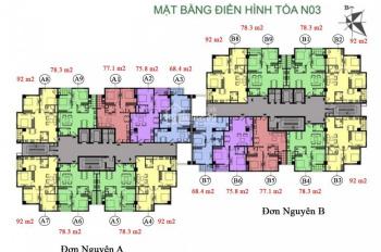 Chính chủ cần bán gấp CC K35 Tân Mai căn 1004, tòa NO3B, DT 78.3m2, giá 23.5tr/m2, LH 0964320600