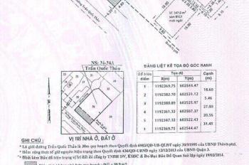 Bán nhà mặt tiền 34 - 34A Trần Quốc Thảo, P7, Q3 DT 20.56x31.45m, 554.3m2. 235 tỷ TL