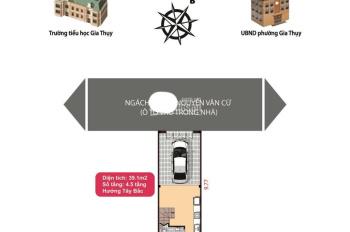 Chính chủ bán nhà 40m2 x 4,5 tầng ngõ 5m ô tô vào nhà tại Gia Thụy, Nguyễn Văn Cừ, giá chỉ 4,35 tỷ