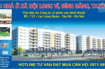 Mở bán thu hồ sơ chung cư 8 tầng nhà ở xã hội Đình Bảng, Từ Sơn, Bắc Ninh
