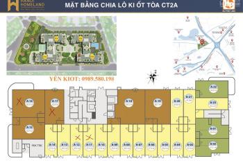 Chính chủ bán ô ki ốt tòa CT2A Hà Nội Homeland Long Biên, giá cực sốc 43tr/m2, 0989.580.198
