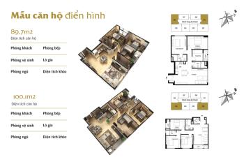 Bán chung cư Terra 83 Hào Nam, căn góc 06 tầng 10, 89m2, 3PN, LH 0934522486