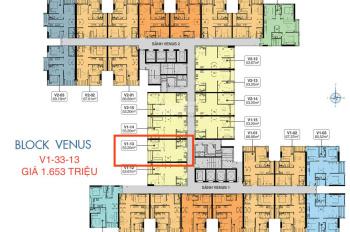 Cần bán V1-13 căn hộ Q7 Sài Gòn Riverside, giá HĐ 1.603 tỷ chênh nhẹ 60tr 53m2 (1PN+1), 0939862678