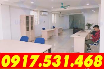 Cho thuê VP Trần Thái Tông, DT: 45m - 55m2, MT 6m, full dịch vụ, mới xây, SD ngay. LH: 0917.531.468