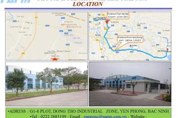 Cho thuê nhà xưởng trong cụm công nghiệp Đông Thọ - Yên Phong - Bắc Ninh