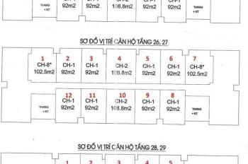 Bán suất ngoại giao chung cư IA20 Ciputra, tầng 16, DT 92m2 và 108m2, bán rẻ 18.5tr/m2, 0968822071