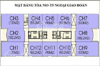Bán chung cư N03T5 Ngoại Giao Đoàn căn góc 133m2, LH 0913226155