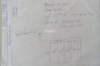 Bán 70m2 đất phường Hùng Vương, quận Hồng Bàng, giá 6,5 triệu/m2