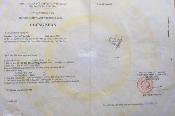 Bán đất đường Nguyễn Kim Cương, xã Tân Thạnh Đông, Củ Chi, DT 196m2, giá 1.8 tỷ, LH 0909117663