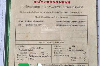 Cần bán gấp nhà hẻm 239 Trần Văn Đang, phường 11, quận 3. LH: 0933334829