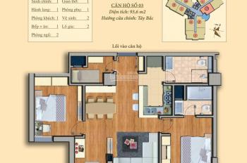 Chính chủ cần bán căn hộ chung cư Trung Yên Plaza giá hợp lý. Căn 93m2