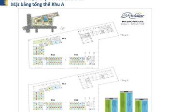 Bán shophouse Richstar - Novaland Hòa Bình, giá 4.8 tỷ, DT: 70m2, LH: 0973 01 68 38
