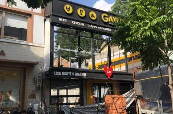 Cho thuê nhà mặt tiền 132A Nguyễn Thái Học, Phường Cầu Ông Lãnh, Quận 1. Giá 208.26 triệu/tháng