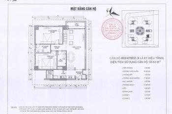 Cần tìm người mua căn hộ chung cư Xuân Phương Quốc Hội, căn 93m2, tòa CT2C1, 19.5tr/m2. 0971285068