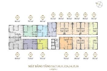 Chính chủ bán căn 80m2 Grand Riverside full nội thất lầu 6, giá 4.2 tỷ, LH: 0906.2341.69