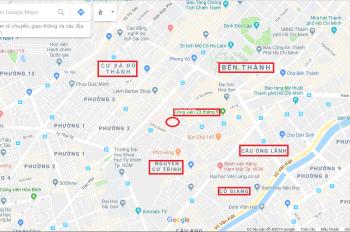 Mặt tiền thụt trung tâm Quận 1 dưới 9 tỷ Bùi Thị Xuân, Phạm Ngũ Lão, Quận 1